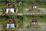 Osho Inipi Circle 21° anno - sabato, Arshad e Sudhiro in attesa del primo Inipi