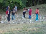2004 Osho Inipi Circle building the crystal labyrinth